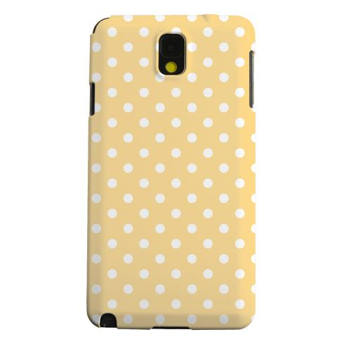 Geeks Designer Line (GDL) Samsung Galaxy Note 3 Matte Hard Back Cover - White Dots on Orange