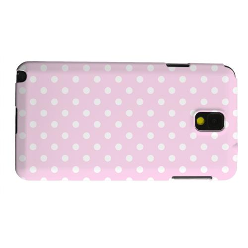 Geeks Designer Line (GDL) Samsung Galaxy Note 3 Matte Hard Back Cover - White Dots on Baby Pink