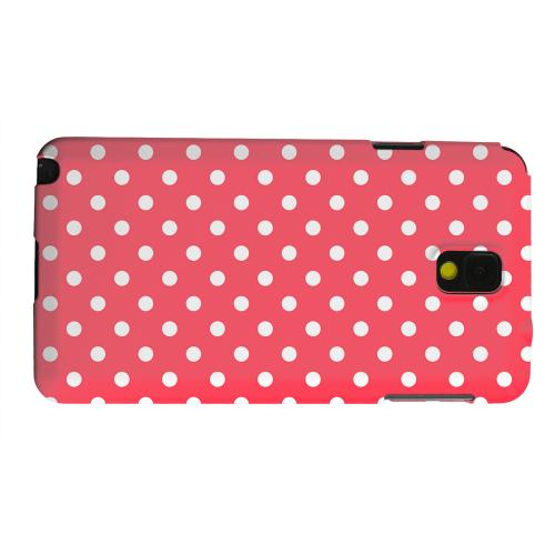 Geeks Designer Line (GDL) Samsung Galaxy Note 3 Matte Hard Back Cover - White Dots on Red