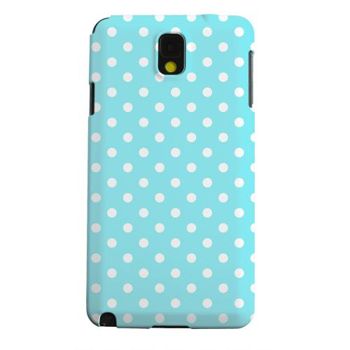 Geeks Designer Line (GDL) Samsung Galaxy Note 3 Matte Hard Back Cover - White Dots on Turquoise