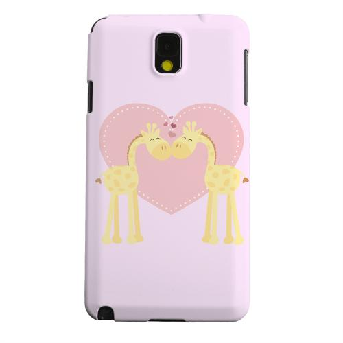 Geeks Designer Line (GDL) Samsung Galaxy Note 3 Matte Hard Back Cover - Giraffe Love on Baby Pink