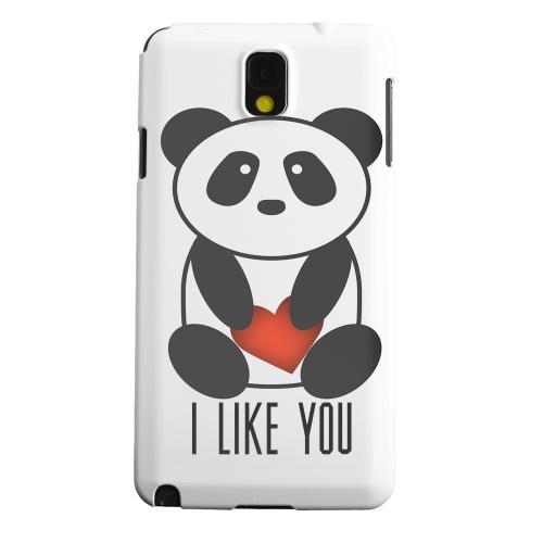 Geeks Designer Line (GDL) Samsung Galaxy Note 3 Matte Hard Back Cover - I Like You Panda