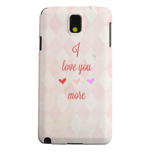Geeks Designer Line (GDL) Samsung Galaxy Note 3 Matte Hard Back Cover - I Love You More