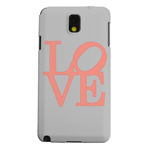 Geeks Designer Line (GDL) Samsung Galaxy Note 3 Matte Hard Back Cover - Pink Love on Gray