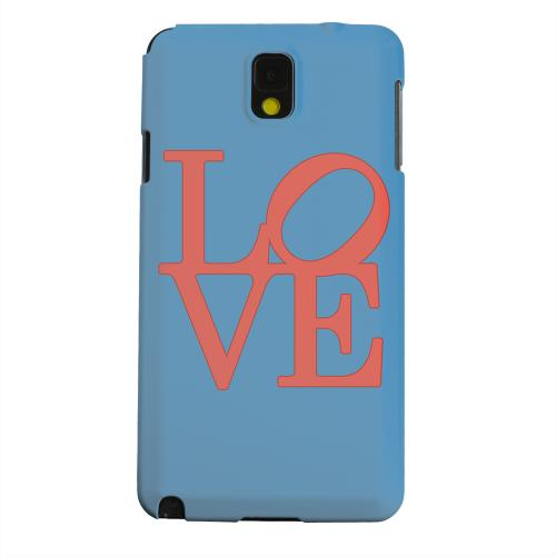Geeks Designer Line (GDL) Samsung Galaxy Note 3 Matte Hard Back Cover - Red Love on Blue