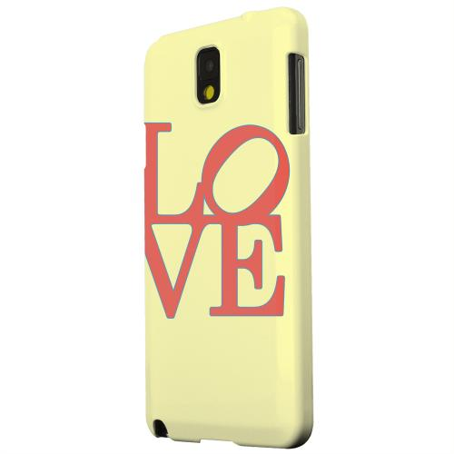 Geeks Designer Line (GDL) Samsung Galaxy Note 3 Matte Hard Back Cover - Red Love on Yellow