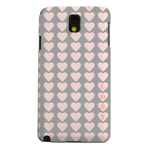 Geeks Designer Line (GDL) Samsung Galaxy Note 3 Matte Hard Back Cover - Lost in Love
