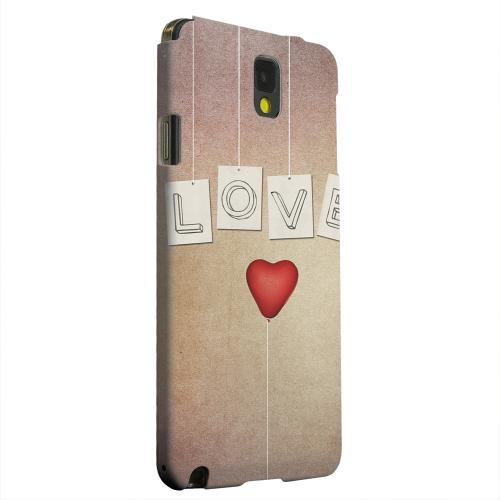 Geeks Designer Line (GDL) Samsung Galaxy Note 3 Matte Hard Back Cover - Love & Heart Balloon