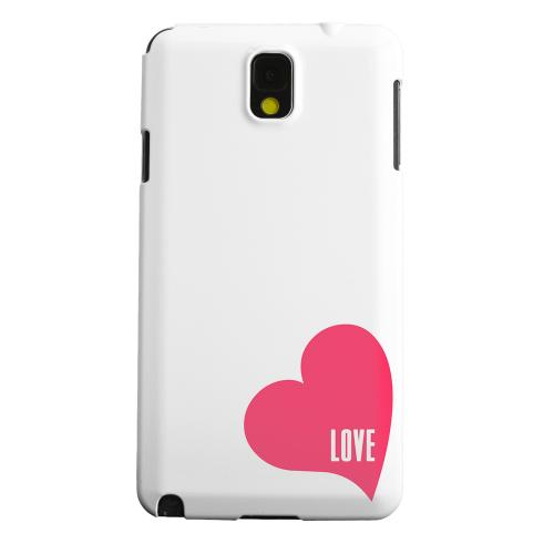 Geeks Designer Line (GDL) Samsung Galaxy Note 3 Matte Hard Back Cover - Love Heart