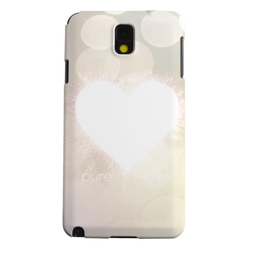 Geeks Designer Line (GDL) Samsung Galaxy Note 3 Matte Hard Back Cover - Pure Love