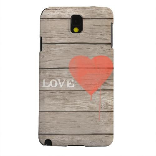 Geeks Designer Line (GDL) Samsung Galaxy Note 3 Matte Hard Back Cover - Rustic Love