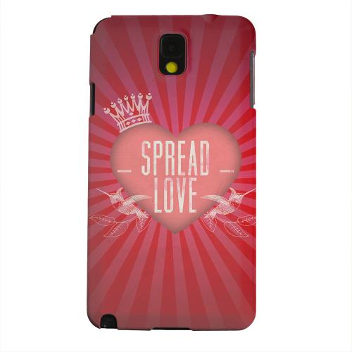 Geeks Designer Line (GDL) Samsung Galaxy Note 3 Matte Hard Back Cover - Spread Love