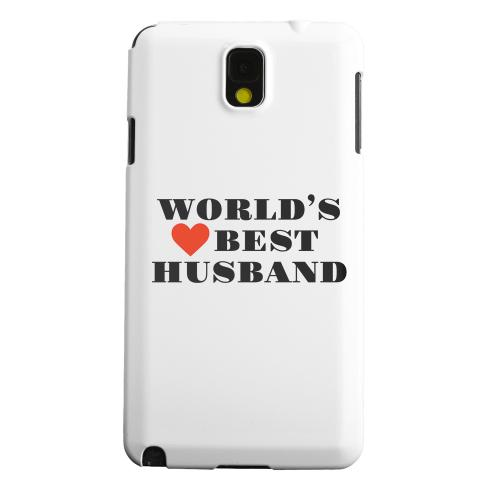 Geeks Designer Line (GDL) Samsung Galaxy Note 3 Matte Hard Back Cover - World's Best Husband