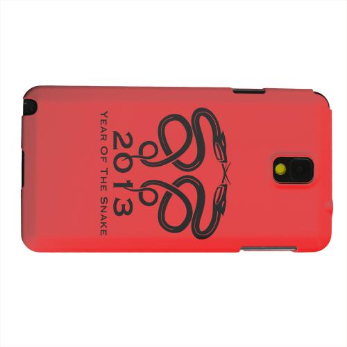 Geeks Designer Line (GDL) Samsung Galaxy Note 3 Matte Hard Back Cover - Dual Snake on Red