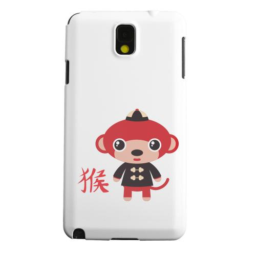 Geeks Designer Line (GDL) Samsung Galaxy Note 3 Matte Hard Back Cover - Monkey on White