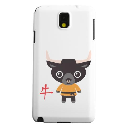 Geeks Designer Line (GDL) Samsung Galaxy Note 3 Matte Hard Back Cover - Ox on White
