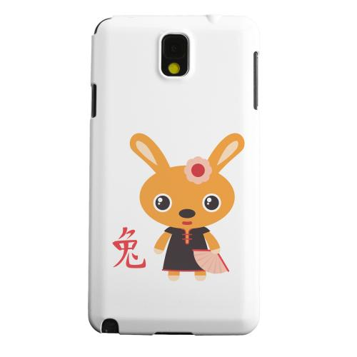 Geeks Designer Line (GDL) Samsung Galaxy Note 3 Matte Hard Back Cover - Rabbit on White