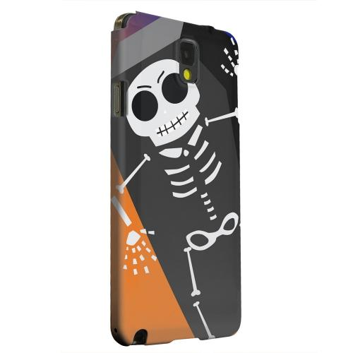 Geeks Designer Line (GDL) Samsung Galaxy Note 3 Matte Hard Back Cover - Dancing Skeleton on Black/Orange/Purple