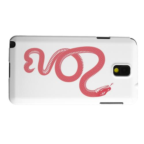 Geeks Designer Line (GDL) Samsung Galaxy Note 3 Matte Hard Back Cover - Red Snake