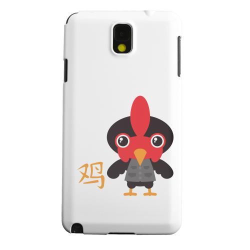 Geeks Designer Line (GDL) Samsung Galaxy Note 3 Matte Hard Back Cover - Rooster on White