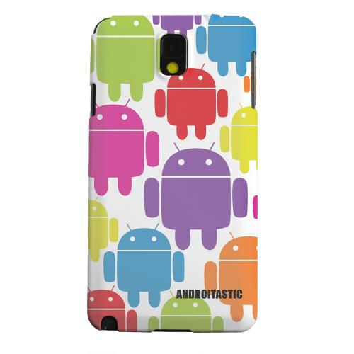 Geeks Designer Line (GDL) Samsung Galaxy Note 3 Matte Hard Back Cover - Rainbow Robot Design