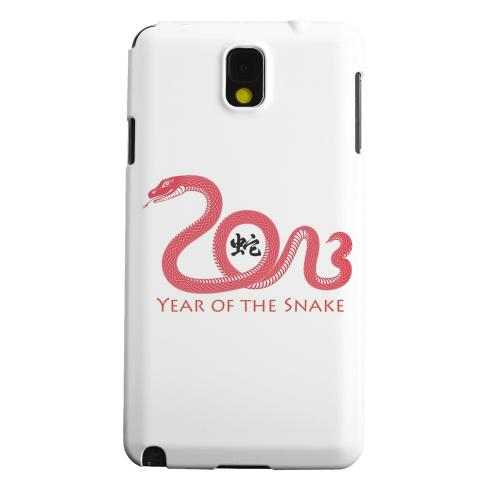 Geeks Designer Line (GDL) Samsung Galaxy Note 3 Matte Hard Back Cover - Red Year of the Snake