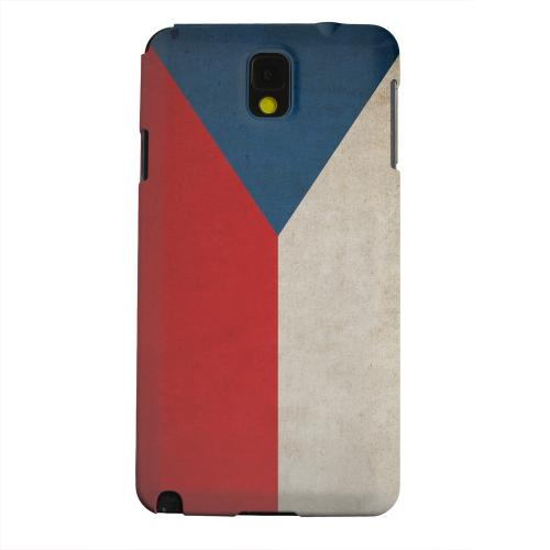Geeks Designer Line (GDL) Samsung Galaxy Note 3 Matte Hard Back Cover - Grunge Czech Republic