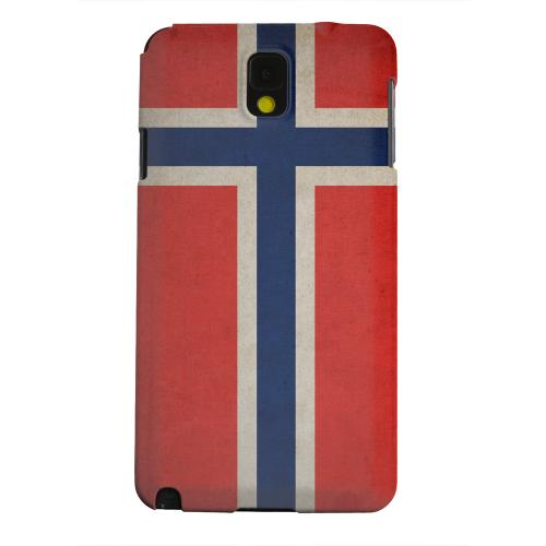 Geeks Designer Line (GDL) Samsung Galaxy Note 3 Matte Hard Back Cover - Grunge Norway