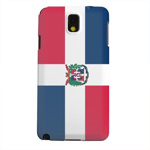 Geeks Designer Line (GDL) Samsung Galaxy Note 3 Matte Hard Back Cover - Dominican Republic
