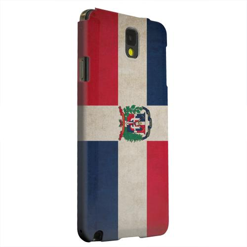 Geeks Designer Line (GDL) Samsung Galaxy Note 3 Matte Hard Back Cover - Grunge Dominican Republic