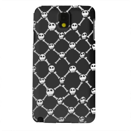 Geeks Designer Line (GDL) Samsung Galaxy Note 3 Matte Hard Back Cover - White Skull & Crossbones on Black