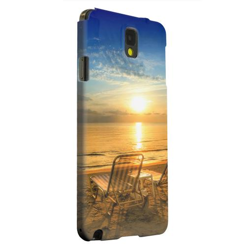 Geeks Designer Line (GDL) Samsung Galaxy Note 3 Matte Hard Back Cover - Beach Chair Sunrise