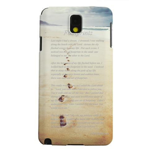 Geeks Designer Line (GDL) Samsung Galaxy Note 3 Matte Hard Back Cover - Footprints