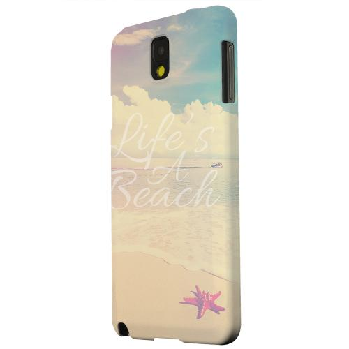 Geeks Designer Line (GDL) Samsung Galaxy Note 3 Matte Hard Back Cover - Life's A Beach