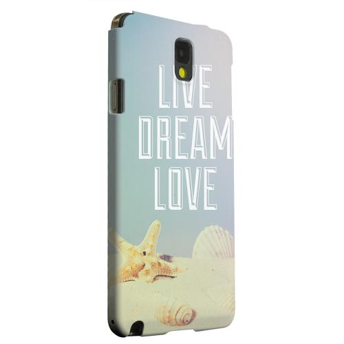 Geeks Designer Line (GDL) Samsung Galaxy Note 3 Matte Hard Back Cover - Live Dream Love