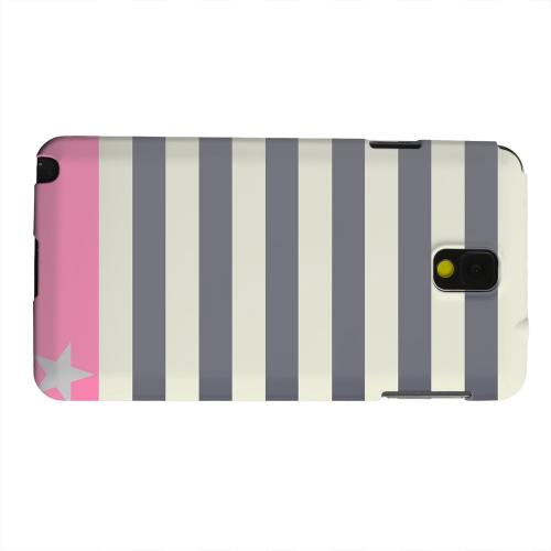 Geeks Designer Line (GDL) Samsung Galaxy Note 3 Matte Hard Back Cover - Bars & Stripes Forever
