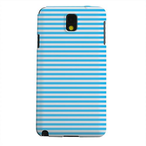 Geeks Designer Line (GDL) Samsung Galaxy Note 3 Matte Hard Back Cover - Blue/ White Stripes
