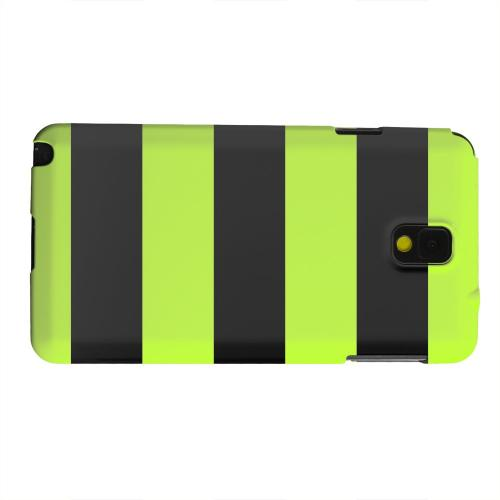 Geeks Designer Line (GDL) Samsung Galaxy Note 3 Matte Hard Back Cover - Colorway Black/ Flo Green