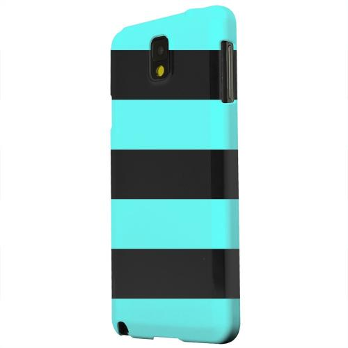 Geeks Designer Line (GDL) Samsung Galaxy Note 3 Matte Hard Back Cover - Colorway Black/ Teal