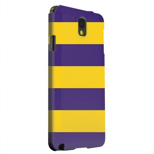 Geeks Designer Line (GDL) Samsung Galaxy Note 3 Matte Hard Back Cover - Colorway Purple/ Gold