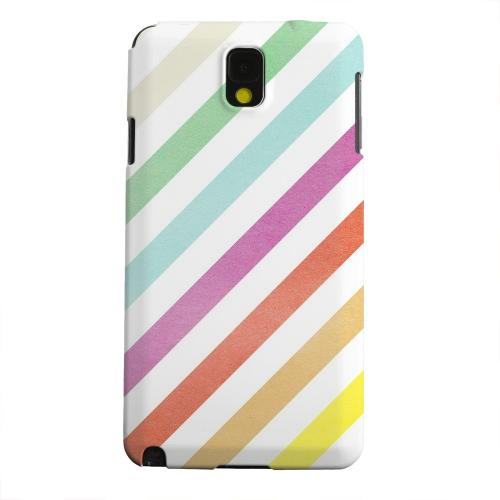 Geeks Designer Line (GDL) Samsung Galaxy Note 3 Matte Hard Back Cover - Dirty Diagonal Multi-Color