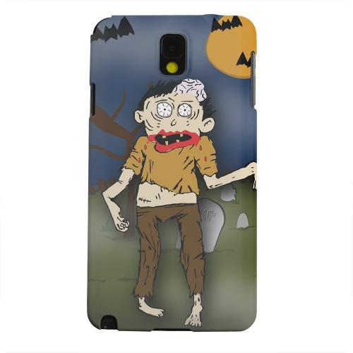 Geeks Designer Line (GDL) Samsung Galaxy Note 3 Matte Hard Back Cover - Zombie in Graveyard