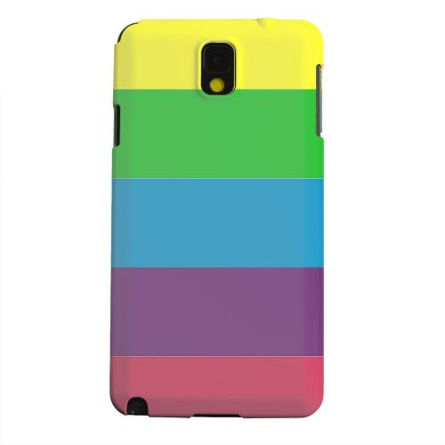 Geeks Designer Line (GDL) Samsung Galaxy Note 3 Matte Hard Back Cover - Rainbow Candy Stripes