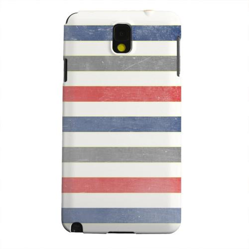 Geeks Designer Line (GDL) Samsung Galaxy Note 3 Matte Hard Back Cover - Stripey Blue/ Red