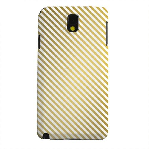 Geeks Designer Line (GDL) Samsung Galaxy Note 3 Matte Hard Back Cover - Thin Golden Diagonal