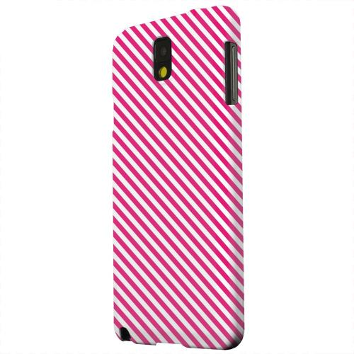 Geeks Designer Line (GDL) Samsung Galaxy Note 3 Matte Hard Back Cover - Thin Hot Pink Diagonal