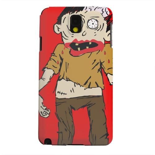 Geeks Designer Line (GDL) Samsung Galaxy Note 3 Matte Hard Back Cover - Zombie on Red