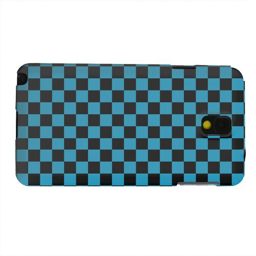 Geeks Designer Line (GDL) Samsung Galaxy Note 3 Matte Hard Back Cover - Aqua Blue/ Black