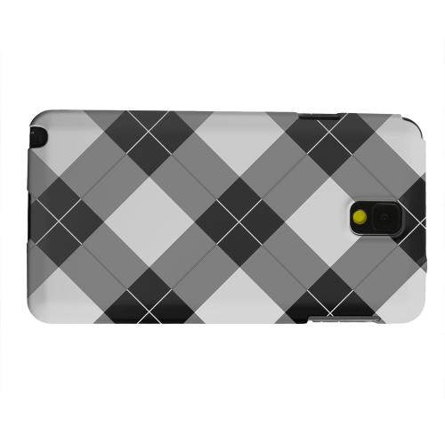 Geeks Designer Line (GDL) Samsung Galaxy Note 3 Matte Hard Back Cover - Black/ White/ Gray Plaid