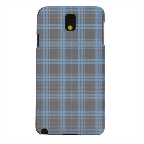 Geeks Designer Line (GDL) Samsung Galaxy Note 3 Matte Hard Back Cover - Blue/ Gray/ Pink Plaid